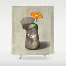 [ a can of hope ] Shower Curtain