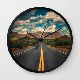Sunday Drive in Cave Creek Wall Clock