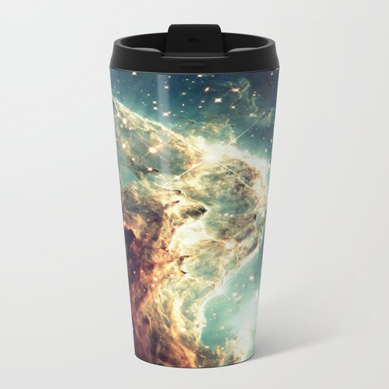 Monkey Head Nebula. Dreamy Metal Travel Mug