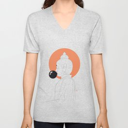 Buddha : Concentrate on the Void! Unisex V-Neck