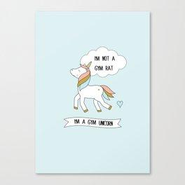 I'm a gym unicorn Canvas Print