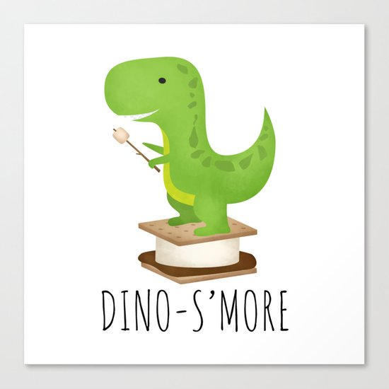 Dino-S'more Canvas Print