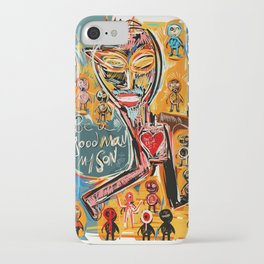Be a good man my son iPhone Case