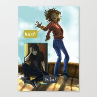 nico di angelo Canvas Prints featuring Nico! by sharada