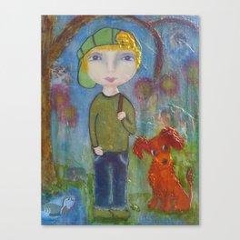Anton & Gumbo - Whimsies of Light Children Series Canvas Print