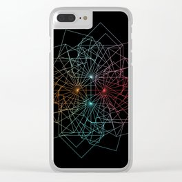 UNIVERSE 63 Clear iPhone Case