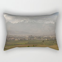City of Arequipa in Peru with its iconic fields and volcano Chachani Rectangular Pillow
