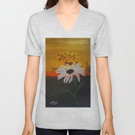 Sunrise Flower Unisex V-Neck