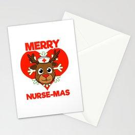 Merry Nurse-Mas Christmas Nurse Stationery Cards