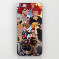 kingdom hearts iPhone & iPod Skins featuring Kingdom Hearts by Kelly Kao