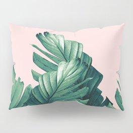 Blush Banana Leaves Dream #3 #tropical #decor #art #society6 Pillow Sham
