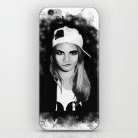 cara delevingne iPhone & iPod Skins featuring Cara Delevingne by BeckiBoos