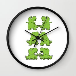 T-Rex Fusion Short Arms Dino funny gift Wall Clock