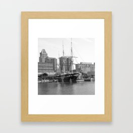 A US Frigate Ship in Baltimore, MD Framed Art Print