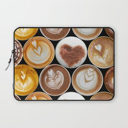Latte Polka Dots in Black Laptop Sleeve