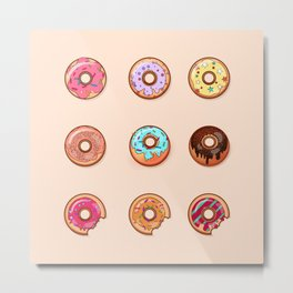 Sweet Donuts pattern Metal Print