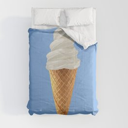 Soft Serve Vanilla Ice Cream Cone Comforters