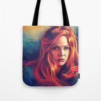 amy pond Tote Bags featuring Amy Pond by Alice X. Zhang