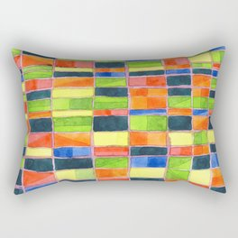 Warm Spring Time Grid Rectangular Pillow