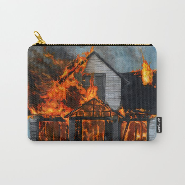House on Fire Carry-All Pouch