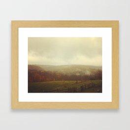 Misty Fall in Vermont Framed Art Print