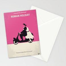 No205 My Roman Holiday minimal movie poster Stationery Cards