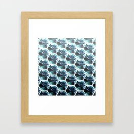 Water Honeycombs Framed Art Print