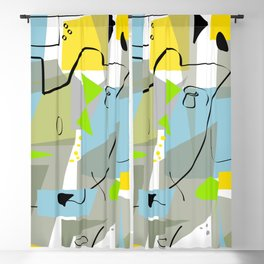 Funky Mid-Century Abstract Blackout Curtain