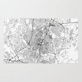 Austin White Map Rug