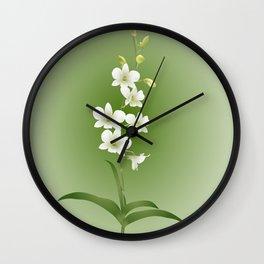 Dendrobium Memoria Princess Diana Wall Clock