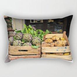 Artichokes & Mushrooms in Rome Rectangular Pillow