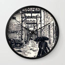 Pig Alley Lawrence Wall Clock