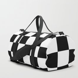 Checkered (Black & White Pattern) Duffle Bag