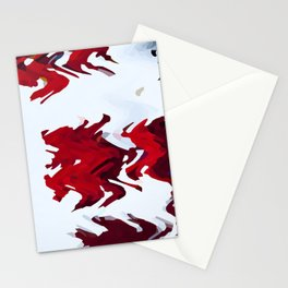 Red Ribbons Stationery Cards