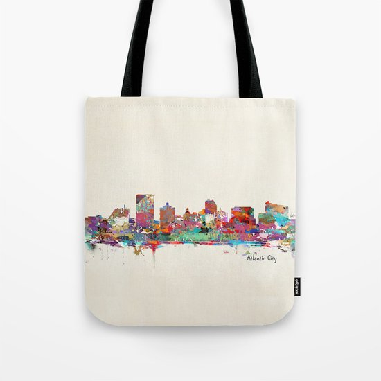 Atlantic city New Jersey skyline Tote Bag