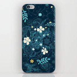 Dark floral delight iPhone Skin