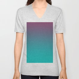 OCEANIC LOVE - Minimal Plain Soft Mood Color Blend Prints Unisex V-Neck