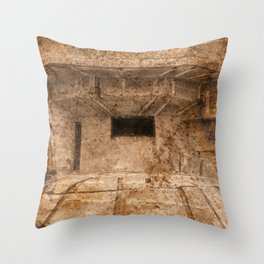 Ravaged War Bunker Throw Pillow