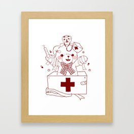 The Adventures of Bear and Baby Bear-Who's hurt? Framed Art Print