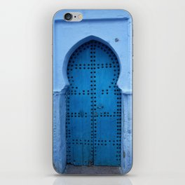 Exotic Blue Door in Morocco iPhone Skin