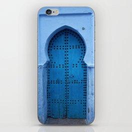 Exotic Blue Door in Morocco iPhone Skin