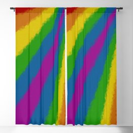 Floral rainbow Blackout Curtain