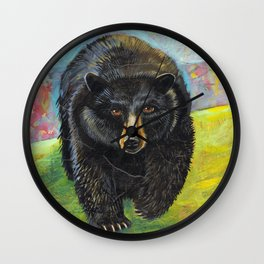 Blackbear in Mountains by Robynne Wall Clock