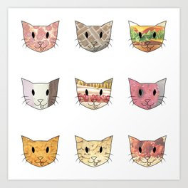Food & Cats Art Print