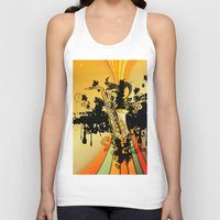 saxophone Tank Tops featuring Saxophone by nicky2342
