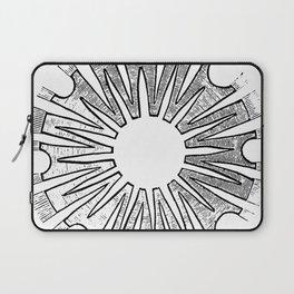 Polypite of Aurelia Aurita Cut Laptop Sleeve