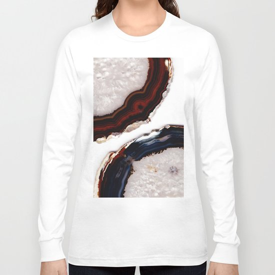 Red meets Blue - Agate Translucent #1 #decor #art #society6 Long Sleeve T-shirt