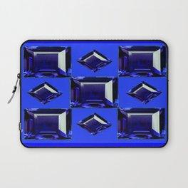 September Babies Sapphire Blue Birthstones Design Laptop Sleeve