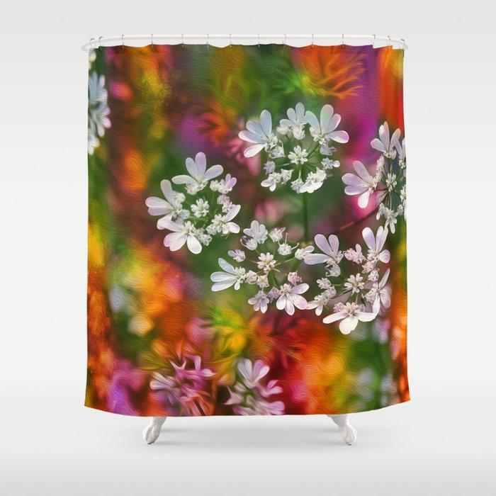 Floral Splash Shower Curtain