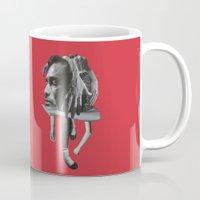sad Mugs featuring Sad by fabiotir